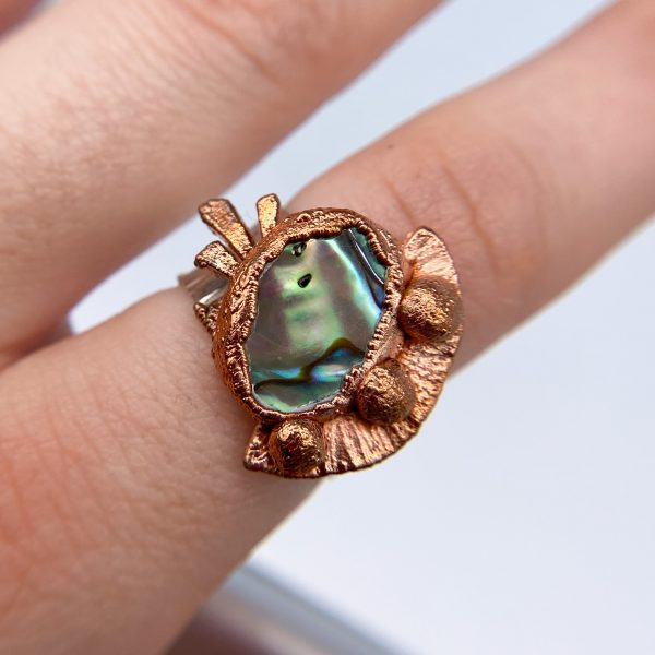Abalone Ring front